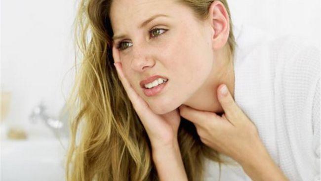 Біль з одного боку горла