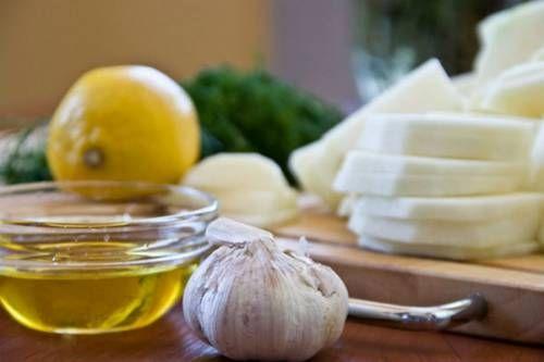 Часник, лимон і масло
