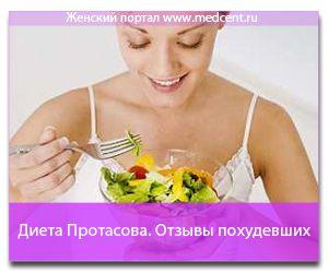 Дієта Протасова відгуки схудлих