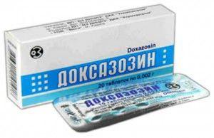 Доксазозин показання до застосування - інструкція