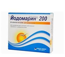 Інструкція по застосуванню препарату йодомарін 200