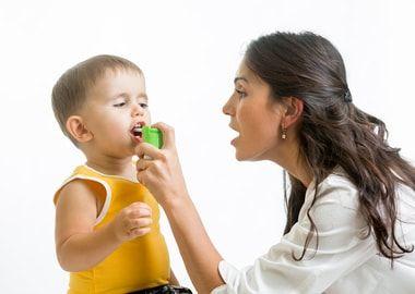 Зрошення горла у дитини
