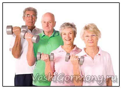фото літніх людей займаються спортом для лікування остеопорозу