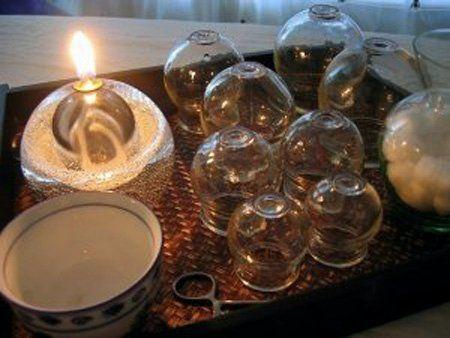Скляні банки для вакуум-терапії