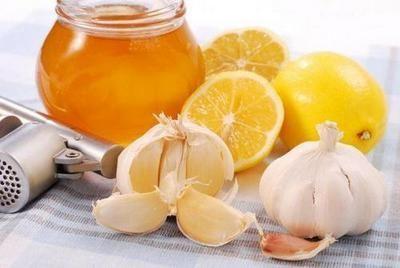 Лимон, мед і часник
