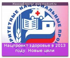 Нацпроект здоров`я в 2013 році. Нові цілі