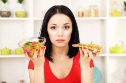 Поява коричневих виділень в результаті неправильного харчування