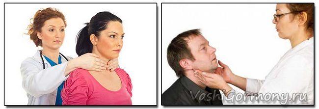 Фото - способи пальпації щитовидки