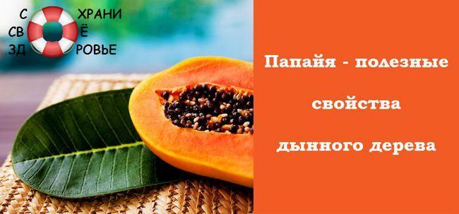 Папайя - корисні властивості незвичайного фрукта