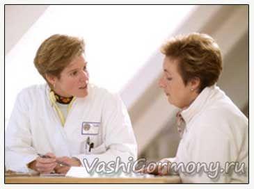 Фото ендокринолога і пацієнта