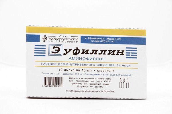 Застосування еуфіліну для лікування набряків у вагітних