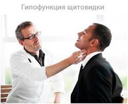 Придбана або вроджена гіпофункція щитовидної залози