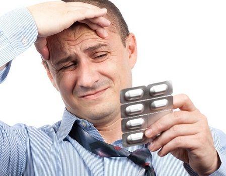Головний біль і прийом таблеток