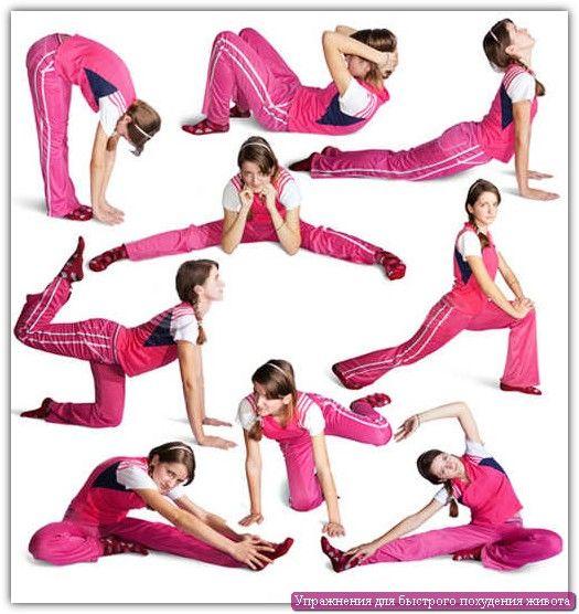 Вправи для швидкого схуднення живота