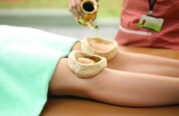 Прогрівання колінних суглобів