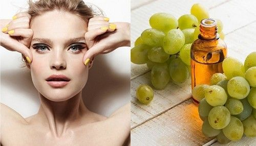 Маски для обличчя з маслом винограду